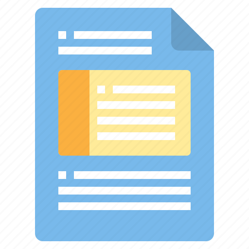 document, file, form, interface icon