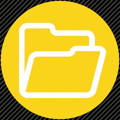 Documents, folder open, folder, archive, office, empty folder icon - Download on Iconfinder