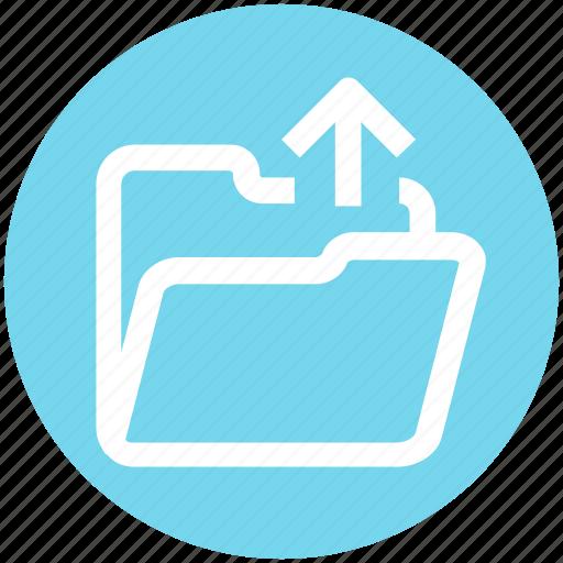 .svg, arrow, folder, interface, open, outside, upload icon - Download on Iconfinder