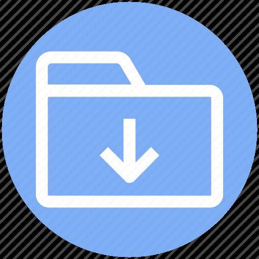 .svg, arrow, download, folder, inside, interface, open icon - Download on Iconfinder