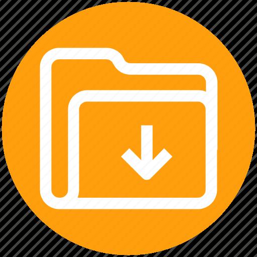 .svg, arrow, download, folder, in, inside, interface icon - Download on Iconfinder
