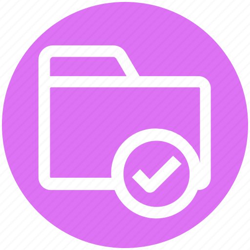 .svg, archive, check, check folder, file, folder, good icon