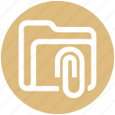 .svg, archive, attachment, clip, document, folder, paperclip icon