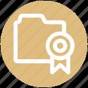 .svg, award, band, bookmark, favorite, folder, tape icon