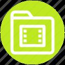 films folder, media, video, movie, .svg, folder, film icon