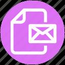 file, envelope, paper, .svg, letter, mail, document icon