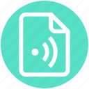 .svg, connected, document, file, online, signal, wifi icon
