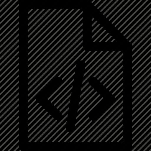 coding, coding icon, file, file icon, folder, outline, web icon