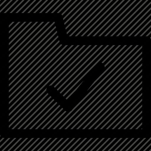 approve, approve icon, file, file icon, folder, folder icon, outline icon