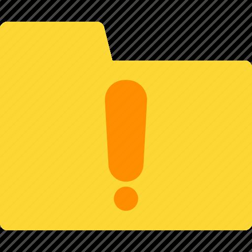file, folder, folder icon, new icon, warning, warning folder, warning icon icon