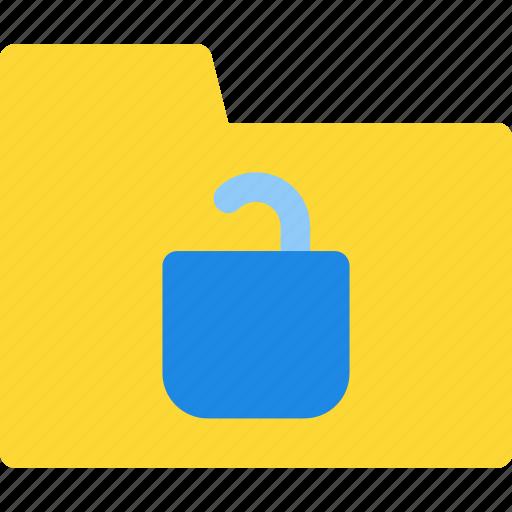 file, folder, folder icon, unlock, unlock folder, unlock icon icon