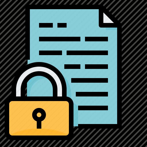 data, lock, only, read, storage icon