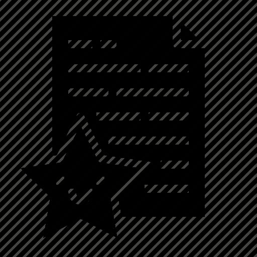 data, favorite, file, list icon