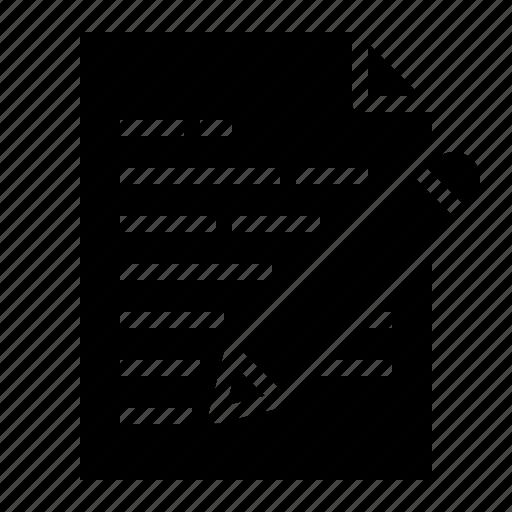 document, file, folders, write icon