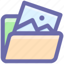 document, file, folder, image, image folder, photo icon