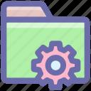 folder, gear, option, preferences, setting, setup icon