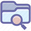 category, directory, find, folder, magnifier, magnifying glass, search icon
