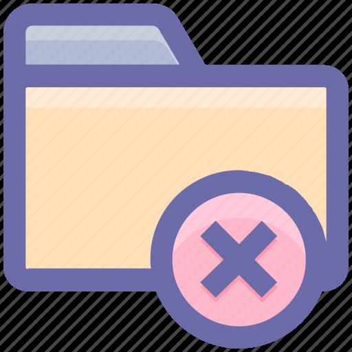 archive, cross, delete, delete folder, document, folder, remove icon