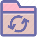 archive, document, file and folder, files, folder, loading, sync icon