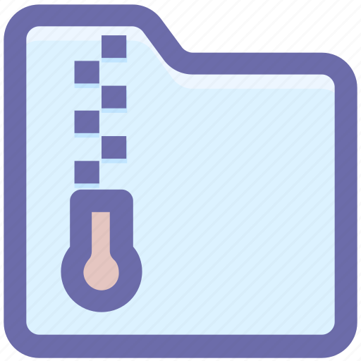 archive, compress, document, files, folder, zip, zipped, zipped folder icon