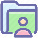 business record, business record management, file and folder, folder man, record manager, user icon
