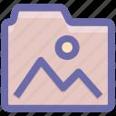 document, file, folder, image, images folder, photo icon