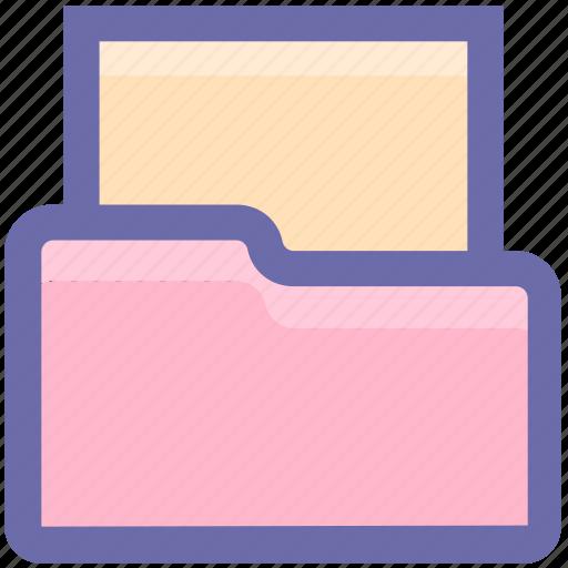 archive, document, drive data, empty folder, folder, office, storage icon