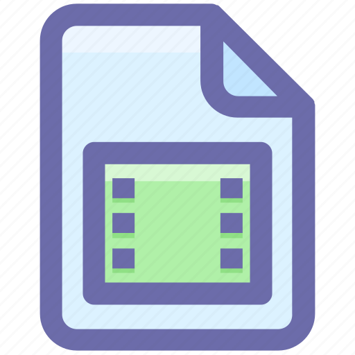 document, film, media, movie, multimedia, video icon