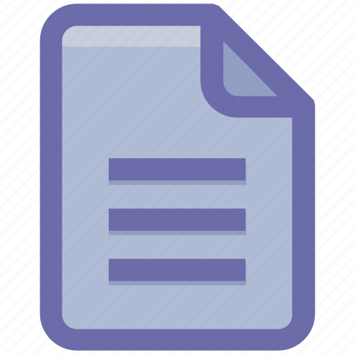 doc, document, file, format, list, page, paper icon