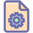 document, file, gearf, settinf, setup, sheet, system icon