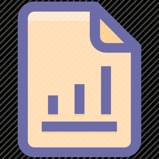 document, file, graph, graph file, graph paper, paper, statistics icon