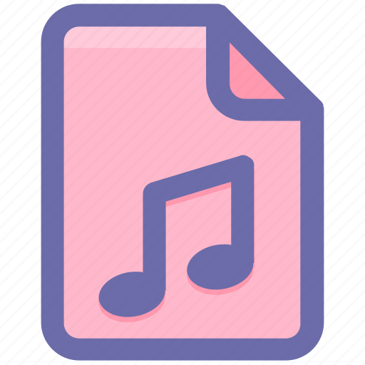 audio, document, file, media, multimedia, music, play icon