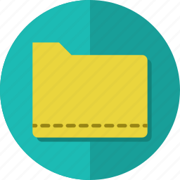 document, file, folder, material, open icon