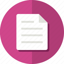 document, file, format, material, page, paper icon