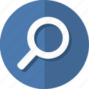 find, glass, magnifier, magnifying, material, search, zoom icon