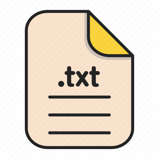 Document, file, format, text, txt icon - Download on Iconfinder