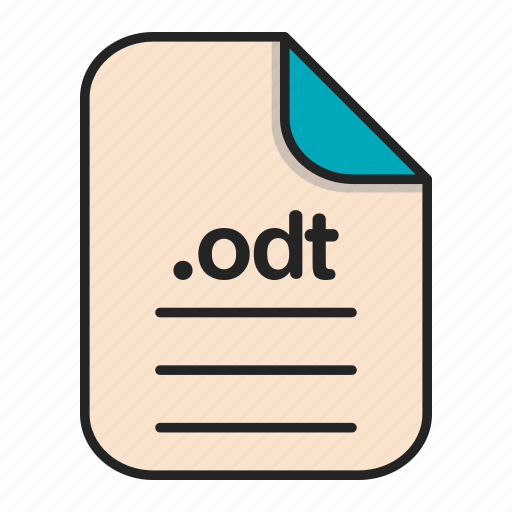 document, file, format, odt, text icon