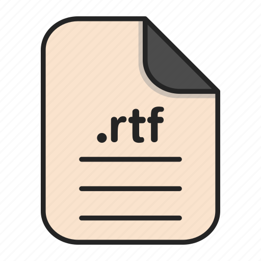 document, file, format, rtf, text icon