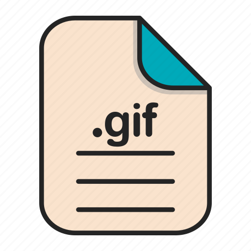 document, extension, file format, format, gif icon