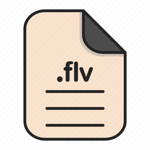 document, extension, file, flv, format, video icon