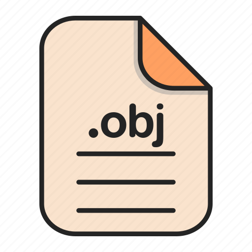 document, file, file 3d, format, obj, type icon