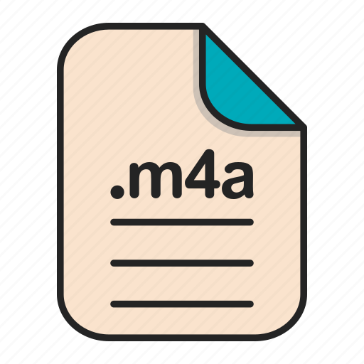 Audio, document, extension, file, format, m4a icon - Download on Iconfinder