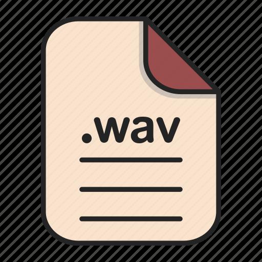 audio, document, extension, file, format, wav icon