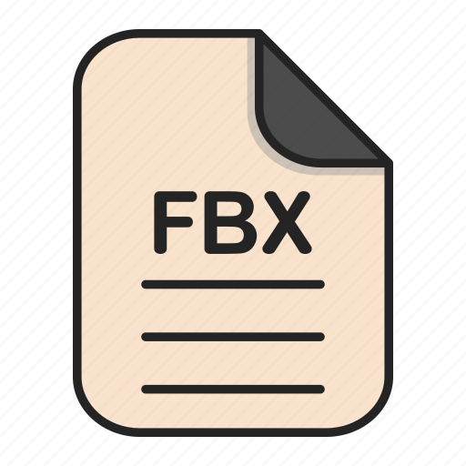 document, fbx, file, file 3d, format, type icon