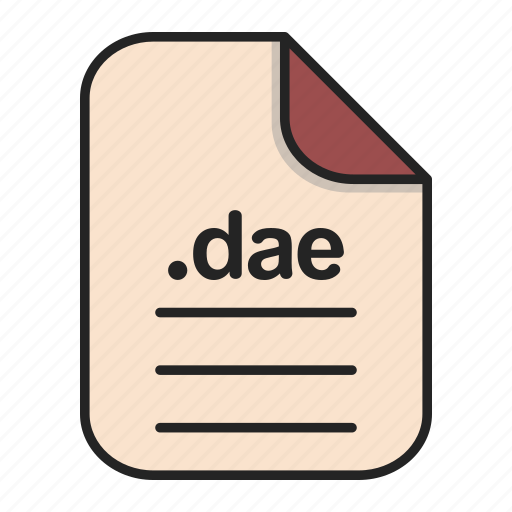 Dae, document, file, file 3d, format, type icon - Download on Iconfinder