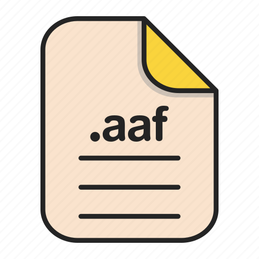 Aaf, document, extension, file, format, video icon - Download on Iconfinder