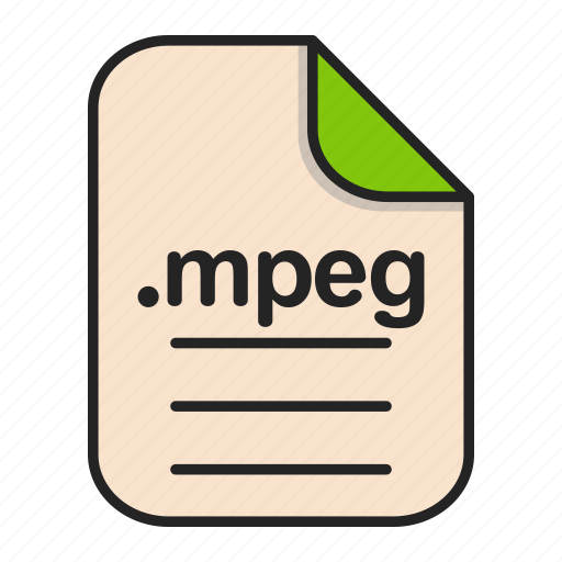document, extension, file, format, mpeg, video icon