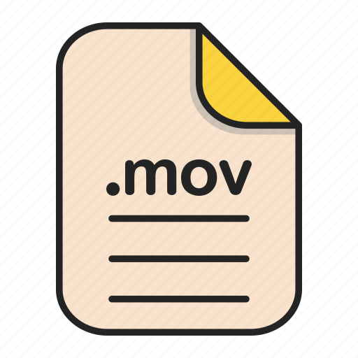 Document, extension, file, format, mov, video icon - Download on Iconfinder