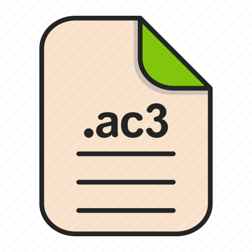 Ac3, audio, document, extension, file, format icon - Download on Iconfinder