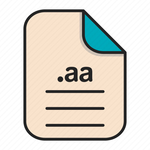 aa, audio, document, extension, file, format i icon
